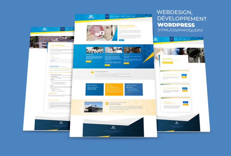 Laphal Industries, Webdesign et Développement WordPress